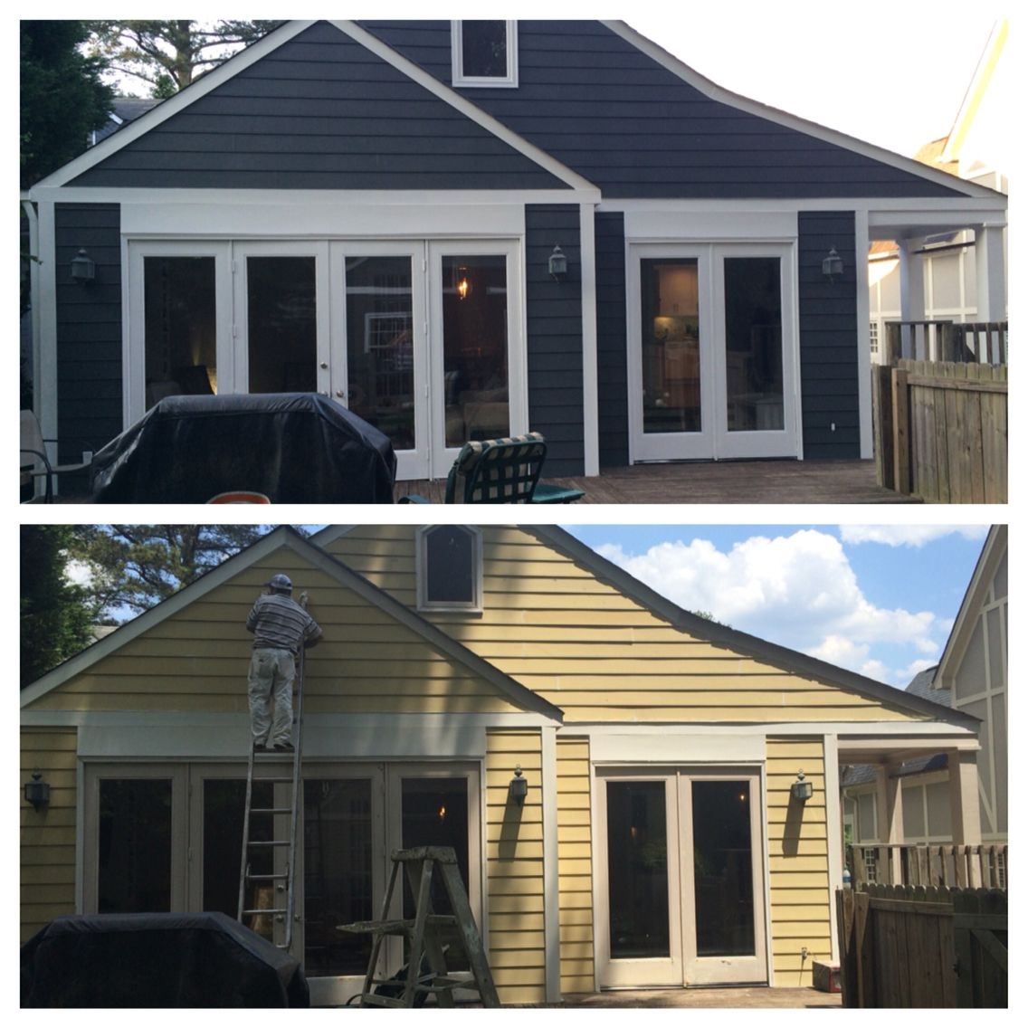 Home Exterior Design Tool: From Bland To Crisp! Benjamin Moore Flint Makes All The