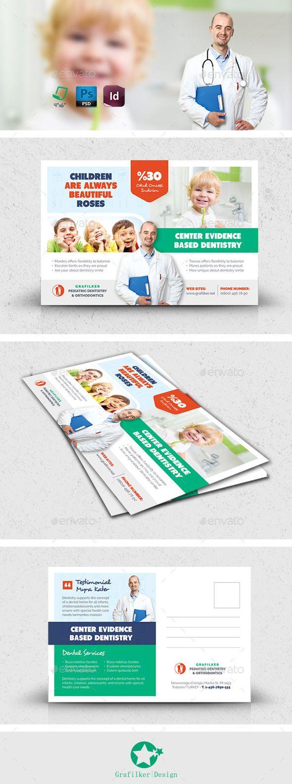 Kids Dental Postcard Template PSD, InDesign INDD #design Download ...