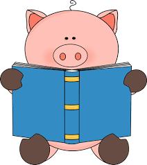 Image Pig Reading A Book Clip Art Pig Reading A Book Image Pig Illustration Book Clip Art Pig Pictures