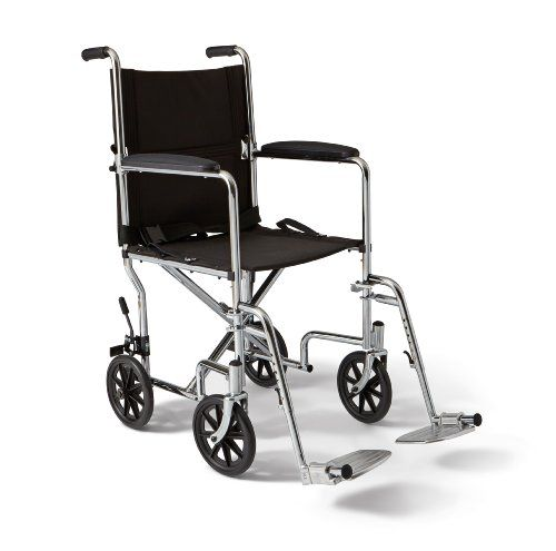 Wheelchairs Medline Steel Transport Chair 19 Wide Seat Permanent Full Length Arms Swing Away Footrests Chrome Frame With Images Transport Chair Chrome Frame Foot Rest