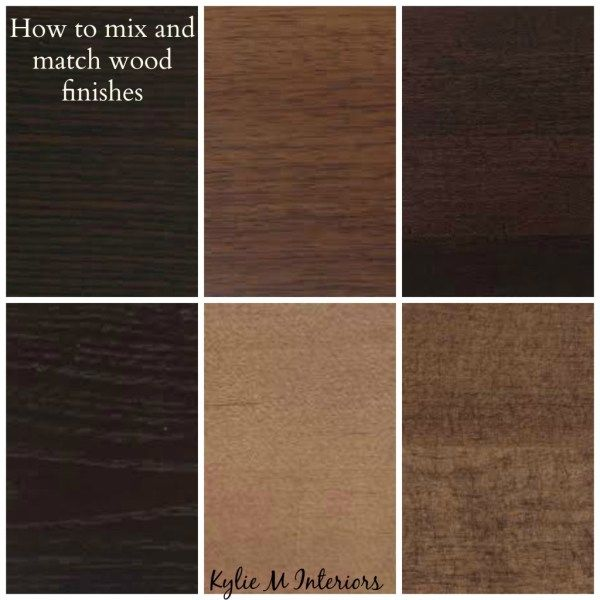 How to mix match and coordinate wood stains undertones wood stain mix match and espresso - Matching wood pieces of different colors ...