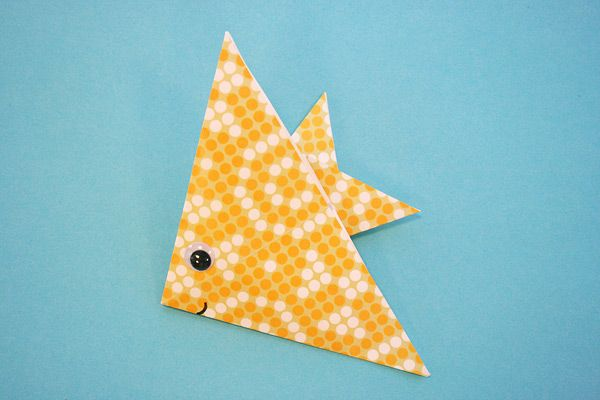 origami fish ... directions here: http://www.nickjr.com/printables/umizoomi-origami-diagrams-fish.jhtml