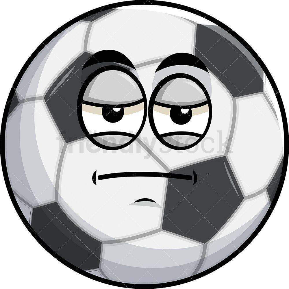 Heavy Eyes Soccer Ball Emoji Cartoon Clipart Vector Friendlystock Soccer Ball Cartoon Clip Art Emoji