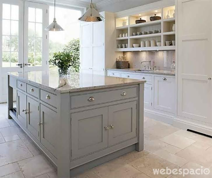 Un color clásico que no pasa de moda #kitchen gris-frances-mueble-de ...