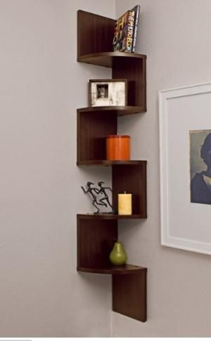 Build This For Corner Bathroom Mirrors Would Still Show Mirrors And Be Easy To Build With Square Pieces By Olive Oyl Corner Wall Shelves Large Corner Shelf Wall Mounted Shelves