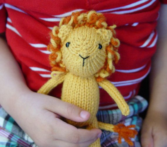 Alistair the Lion Knitting Pattern PDF by Yarnigans on Etsy (Craft Supplies & Tools, Patterns & Tutorials, handmade, animal, toy, stuffed, pdf, lion, yellow, orange, jungle, diy, knitting pattern, baby gift, jungle nursery)