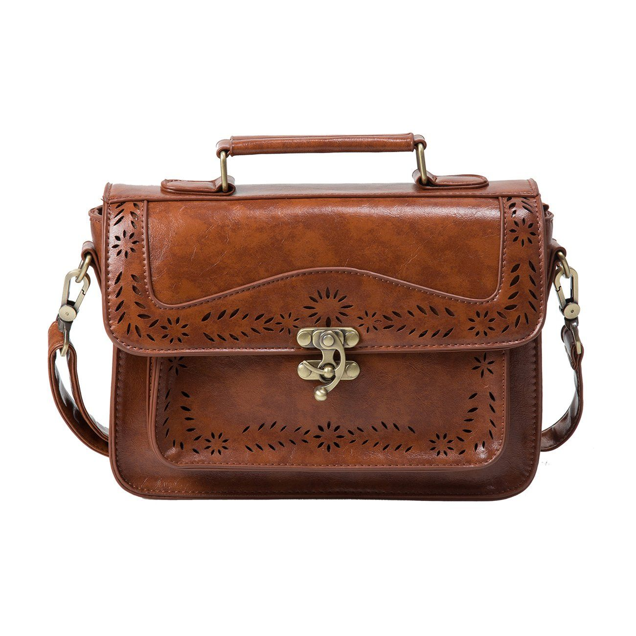 125ba1bdc5ee Fashion Girl s Faux Leather Satchel Purse Small School Crossbody Messenger  Bag Work Cross-body Bag