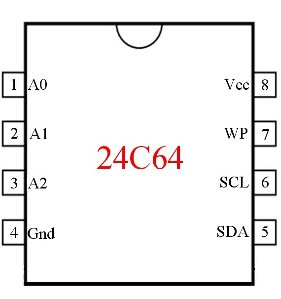 Circuit to Read and Write Data to a 24C64 EEPROM using Arduino (Part 1 of 5)