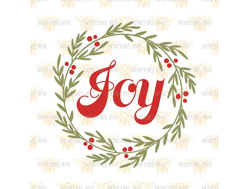 Download Joy Wreath (With images) | Joy wreath, Christmas svg, Svg