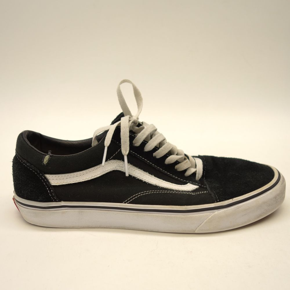 6b3332d08a1 Vans Mens Old Skool Black   White Canvas Lace Up Sneaker Skate Shoes Size  11  VANS  SkateShoes