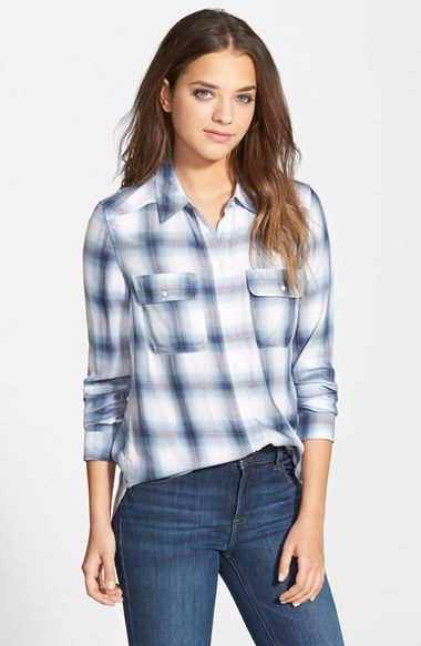 Paige Denim 'Trudy' Button Front Plaid Shirt (Nordstrom Exclusive) available at #Nordstrom