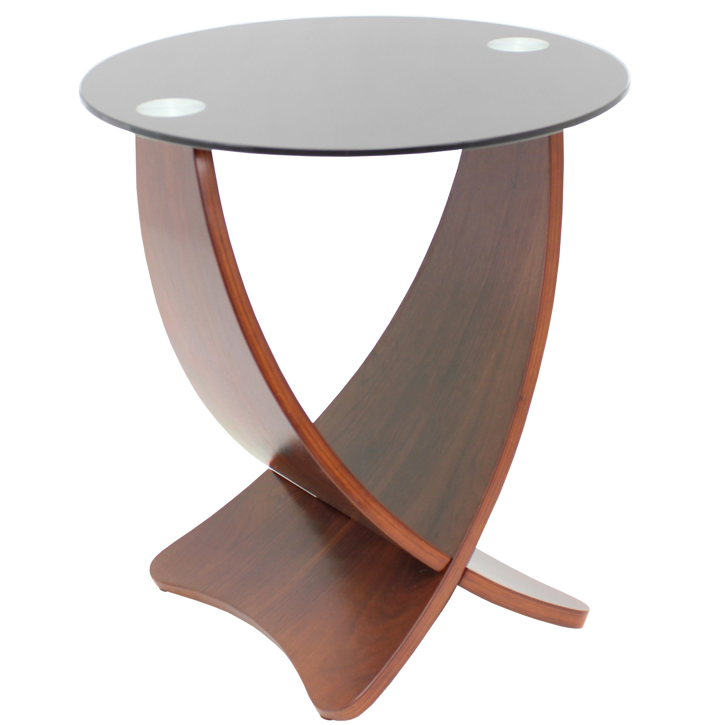 Modern glass end table  Modern Round Smoked Glass Side Table Galant  Modern Side Tables
