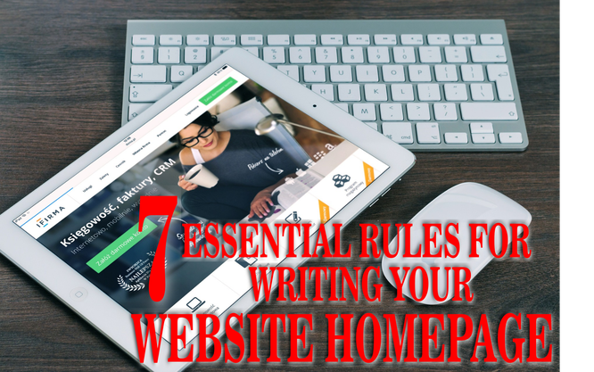 7 essential rules for writing your website homepage