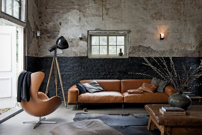 Masculine Industrial Living Room