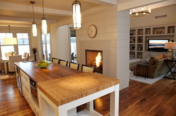 20 Gorgeous Two Sided Fireplaces For Your Spacious Homes Two