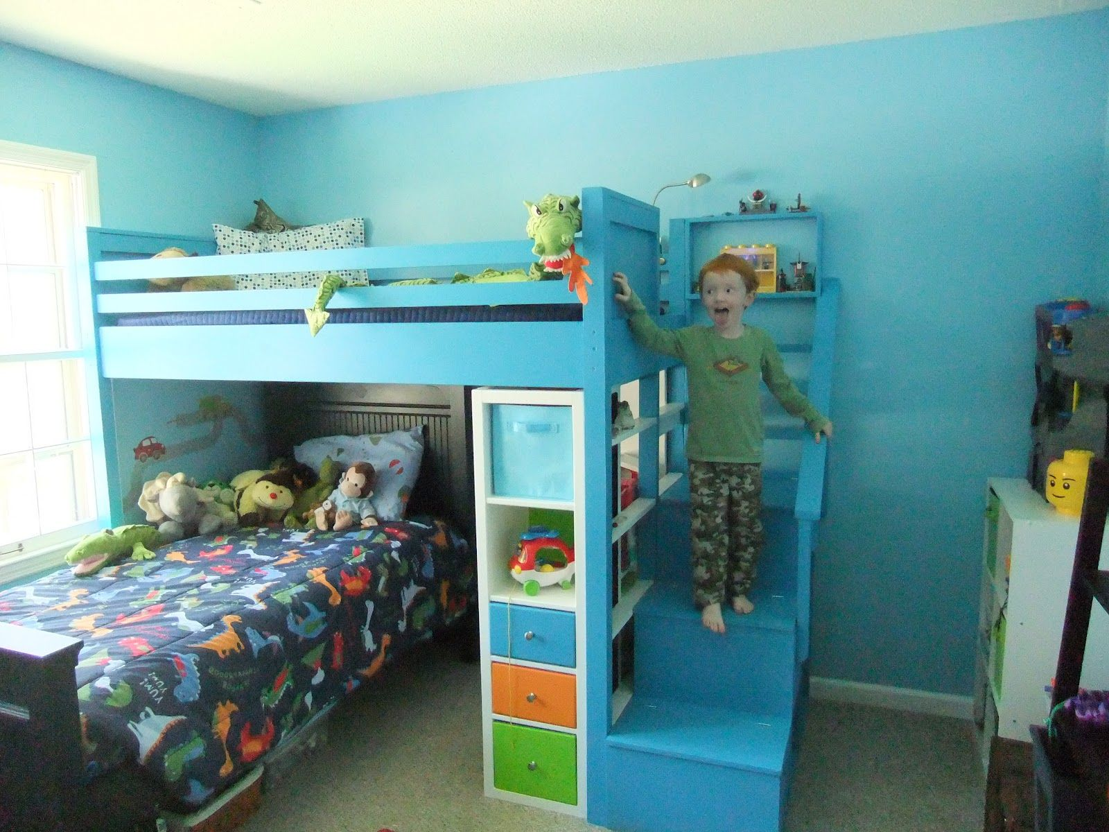 Loft bed with storage stairs  JPG  pixels  For the Home  Pinterest