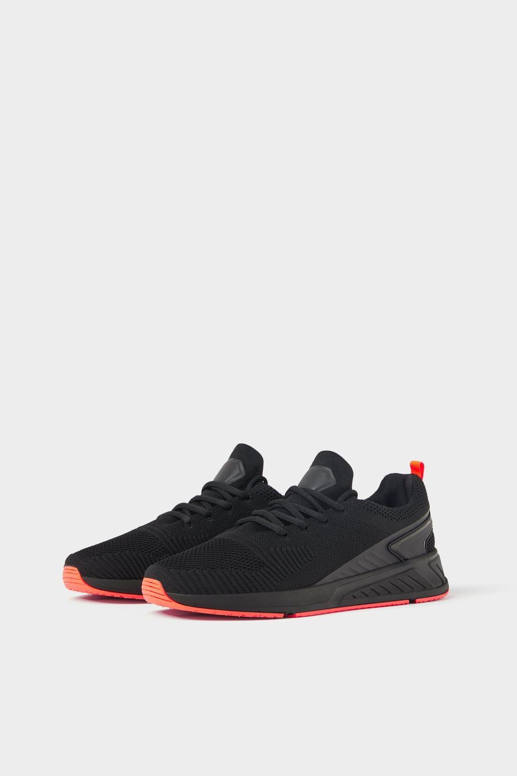 BLACK SOFT SNEAKERS from Zara | Neon
