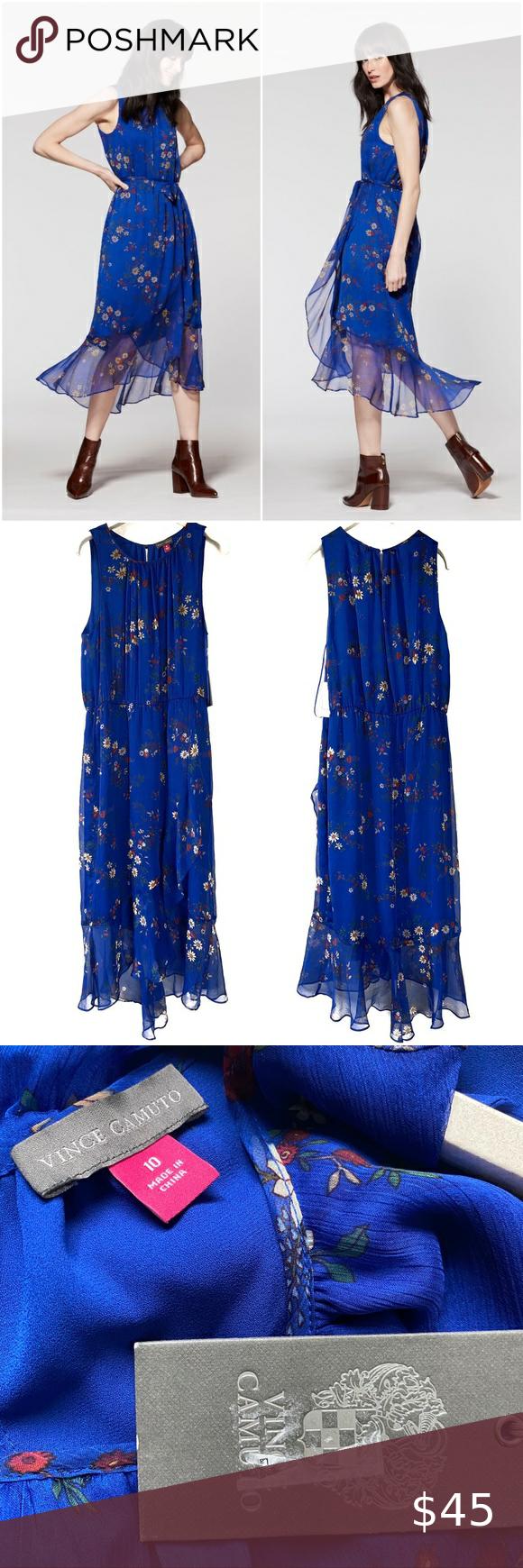 Vince Camuto Bouquet Print Maxi Dress 10 Printed Maxi Dress Maxi Dress Printed Maxi [ 1740 x 580 Pixel ]