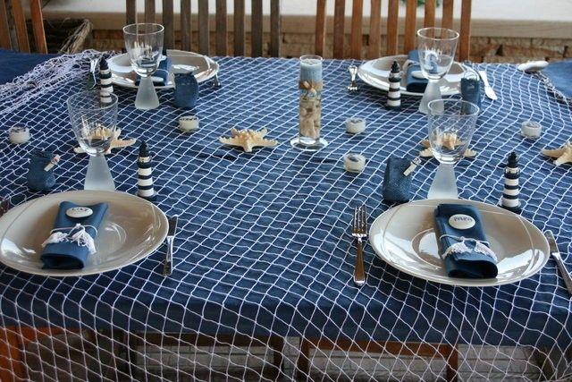 Theme Mer Bapteme Amaury Deco Table Deco Table Communion