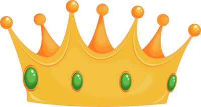 Crown clear background. Clip art with transparent