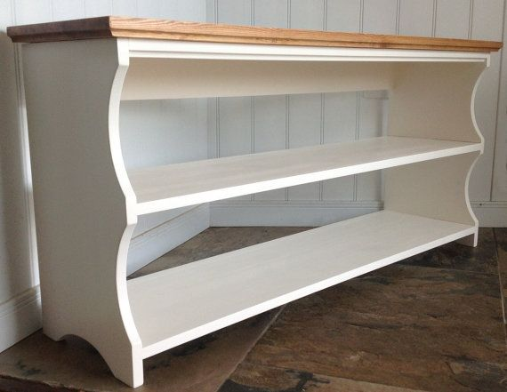 Hall shoe bench and shoe rack with storage shelves in Antique white ...