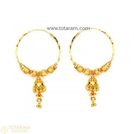 Gold Hoop Earrings Indian Gold Hoops Bali Small Gold Hoop
