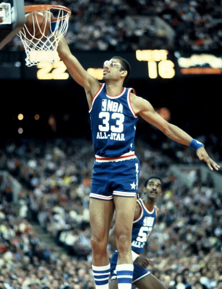 watch fa698 baf23 Kareem Abdul-Jabbar dunks in All-Star Game   My style   Nba ...