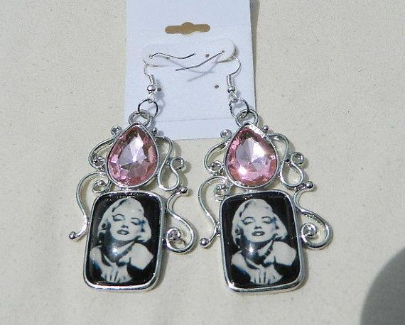 Earrings Marilyn Monroe  make a statement by JewelrybyDecember67, $30.00