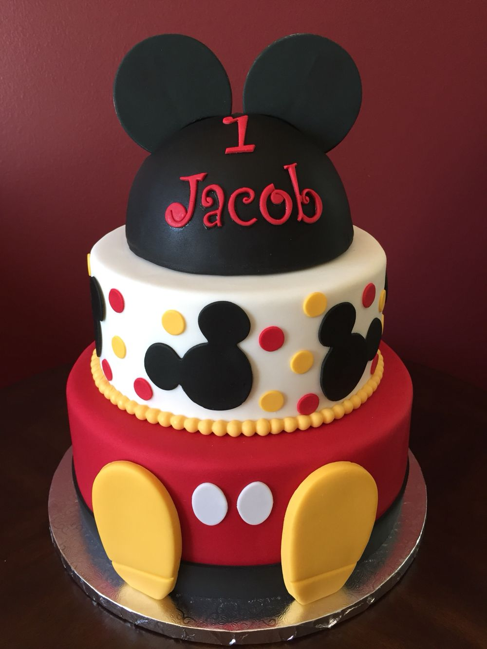 Mickey Mouse Birthday Cake Mickey Birthday Cakes Mickey Mouse