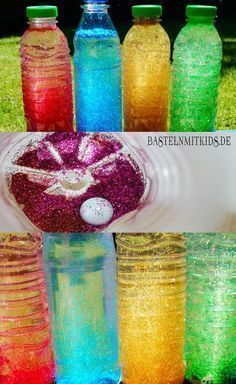 Schüttelflaschen für Kinder - Bastelnmitkids