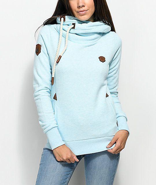 Naketano Sweat Jacket baby blue
