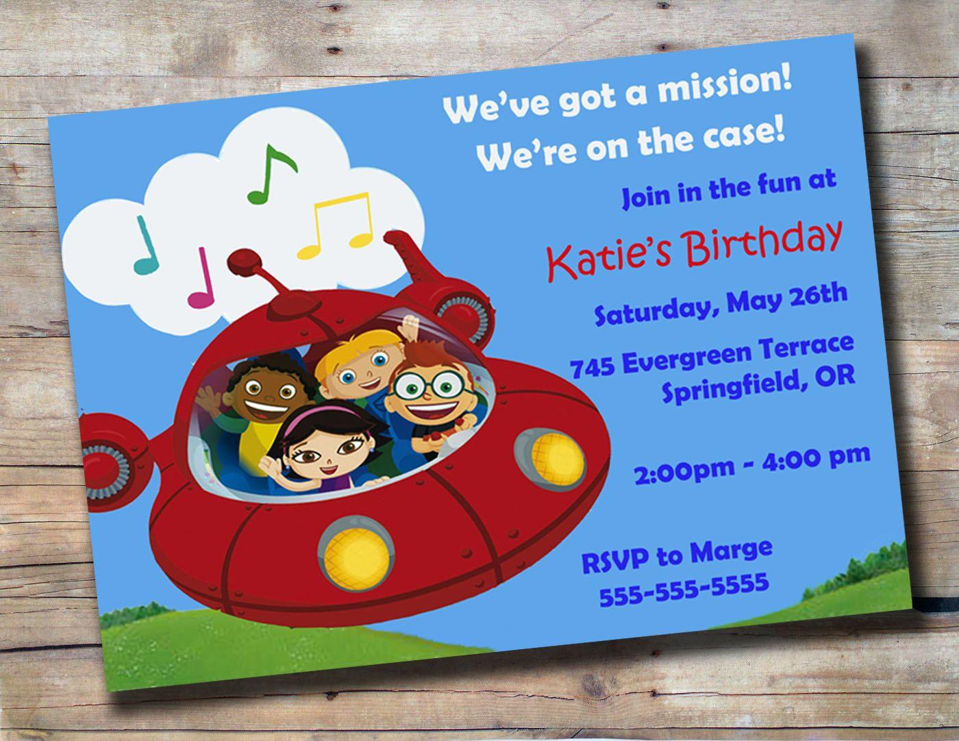 Little Einsteins Birthday invitations | Kids | Pinterest | Einstein ...