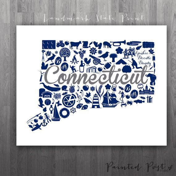 Storrs Connecticut Landmark State Giclée Print By
