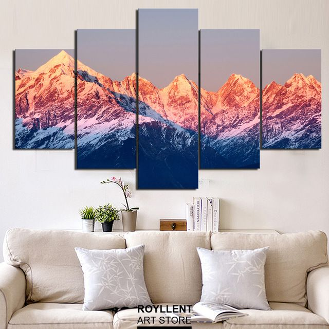 Aliexpress Com Buy Modern Wall Art Canvas Print Painting Mountain Landscape Picture For Home Decor Living Wall Art Living Room Living Room Art Painting Decor