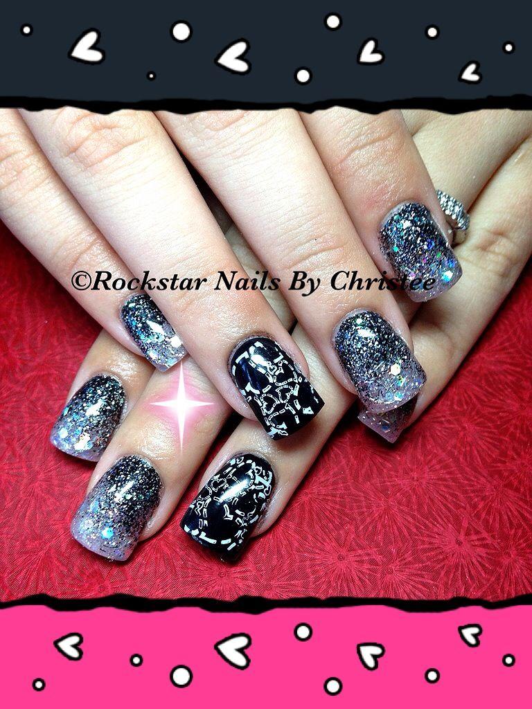Rockstarnailsbychristee acrylic nails valentinesday nails