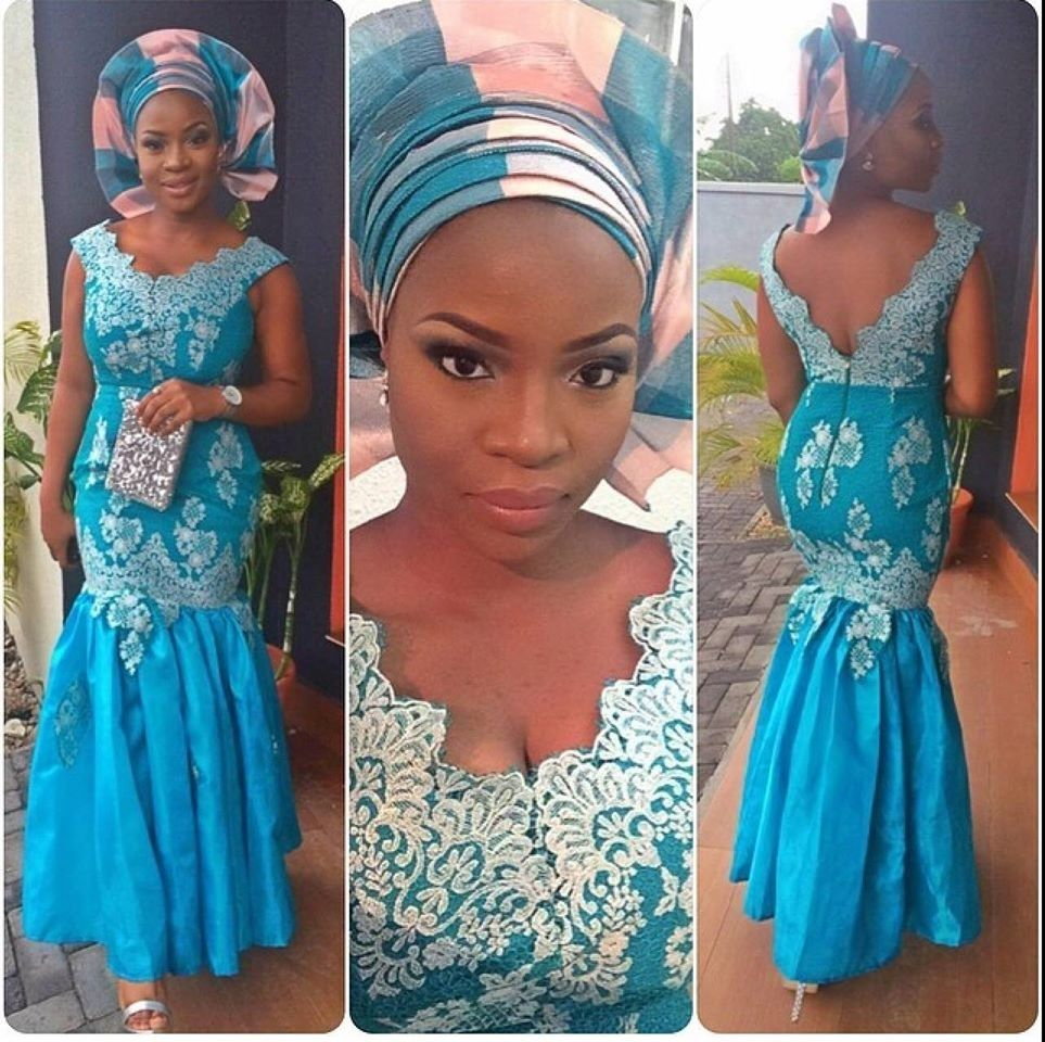 2017 05 aso ebi fashion styles nigeria wedding event fashion - Walk Into Style With Fabulous Aso Ebi Ensembles Wdn Fashion Forward Aso Ebi Styles Wedding Digest Naija