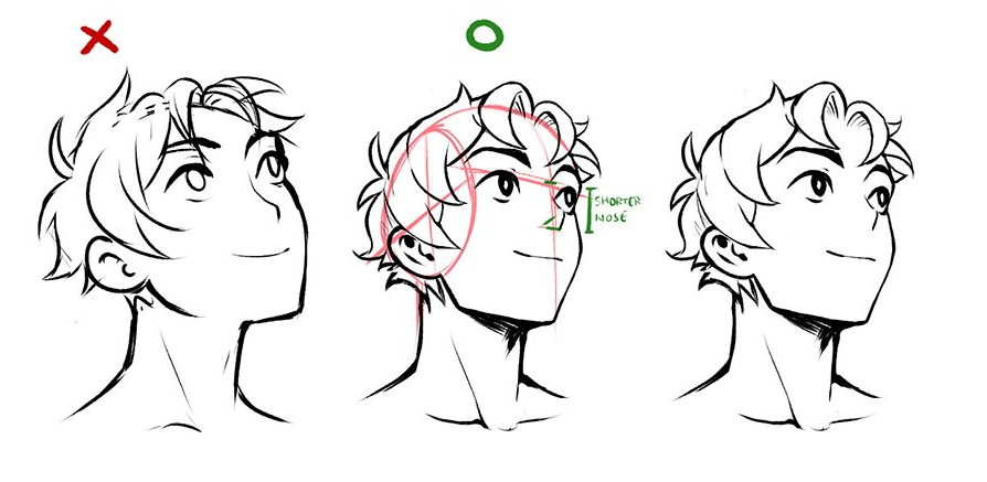 Head Tilt Up Tutorial Drawings Art Reference Photos Art Reference Poses