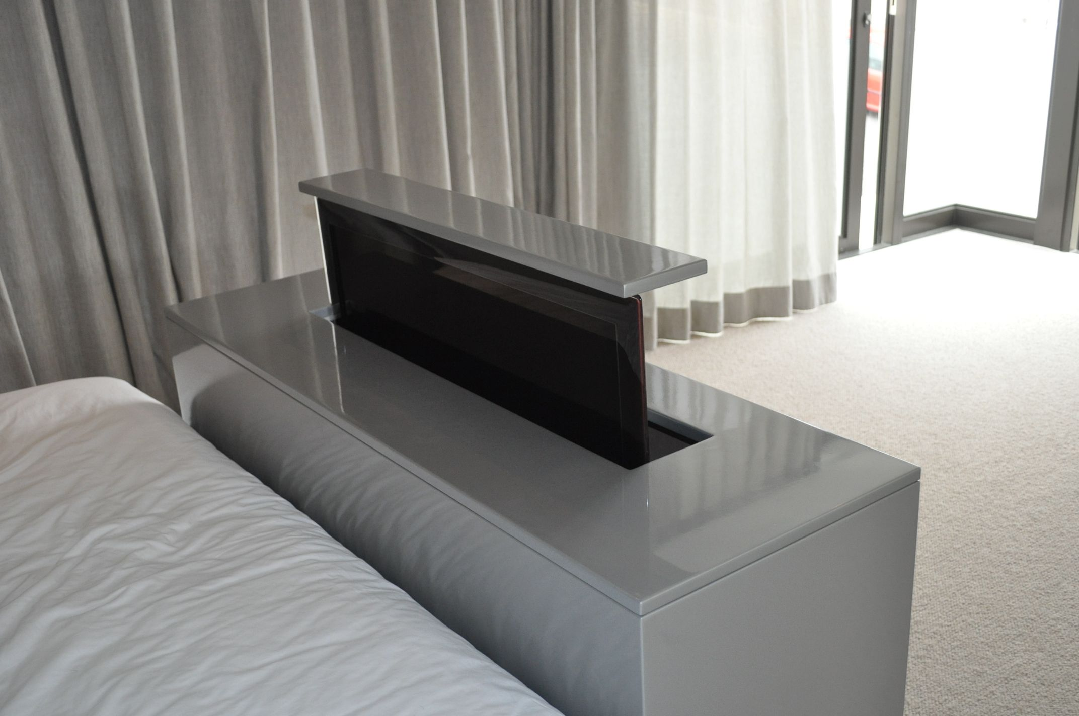 Modern Bed Stand Tv At The Foot Of Your Bed Definition Automation Tv