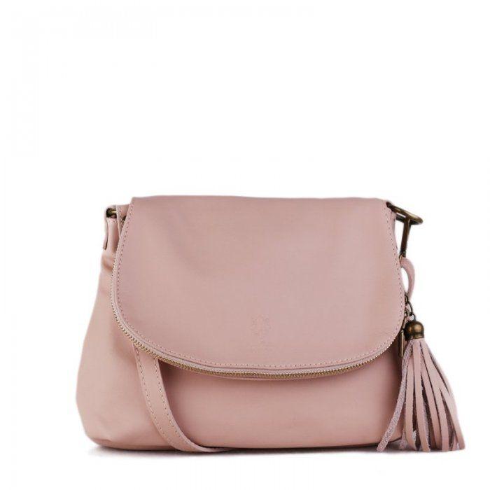 76f2b2cbad kožené kabelky crossbody cez plece na rameno stredné so štetcom ružové so  starým kovaním letné farby kúsky modny doplnok  koženékabelky   ružovékabelky ...