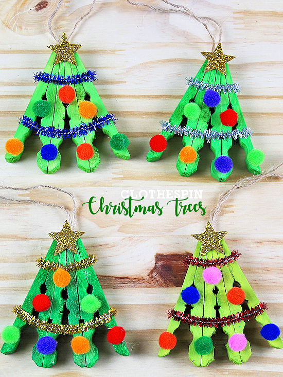 Clothespin Christmas Tree Craft Christmas tree crafts
