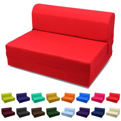 Folding Chair Mattress Foam Kitchen Cushion Magshion Furniture Usa 5 Inches Sleeper Bed Mat Ottoman Sofa Foldable Red