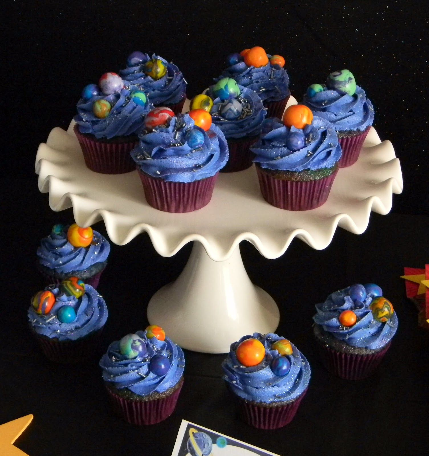 Space Party Cupcakes