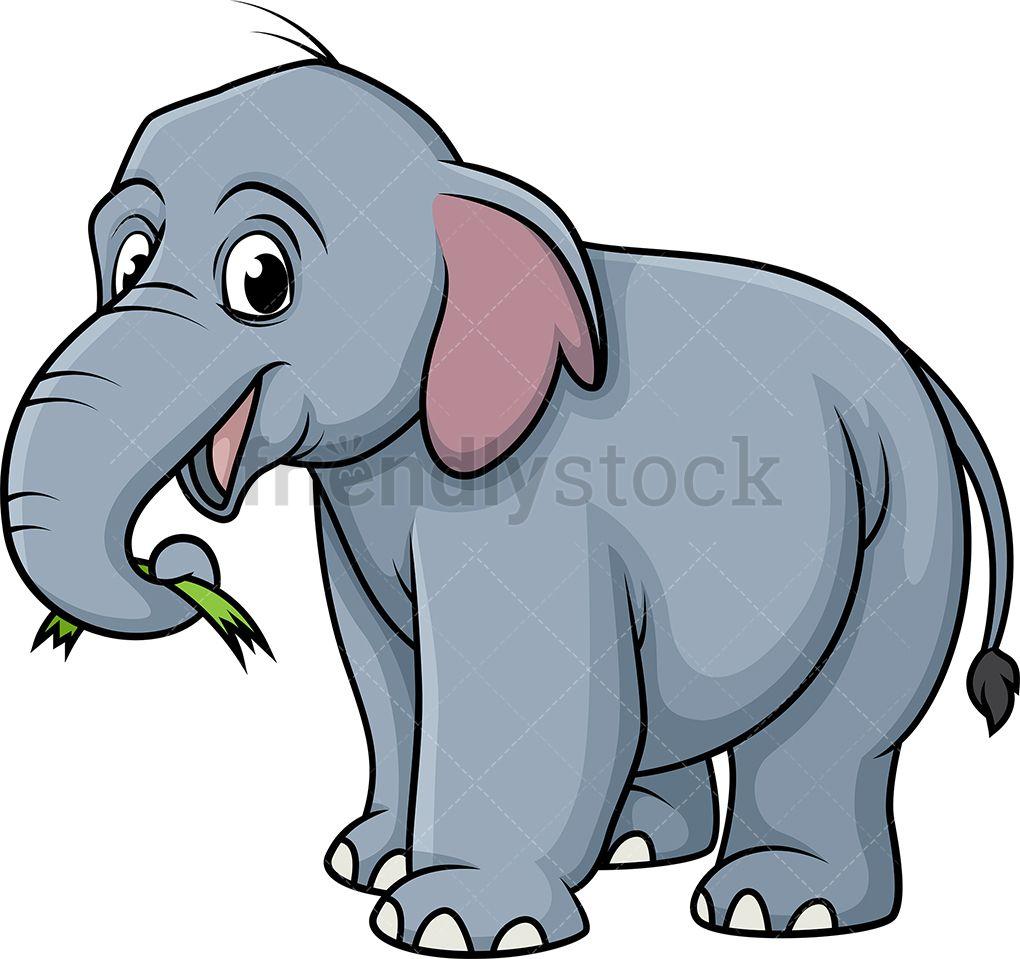 Elephant Eating Grass | Elephant clip art, Cartoon clip ...