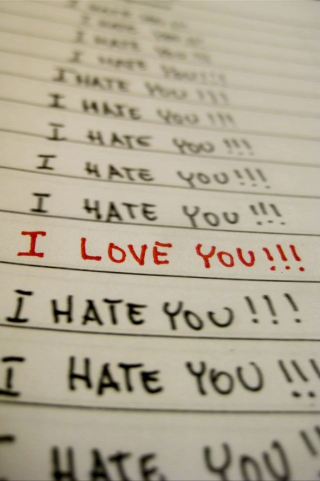 Love Vs Hate Iphone 4 Wallpapers 640x960 Hd Wallpaper Download For