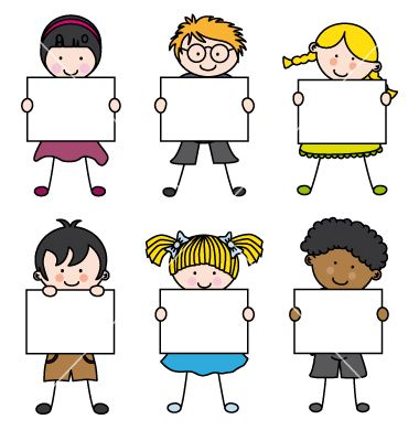 Cute cartoon kids frame vector 1241580 - by sbego on VectorStock ...