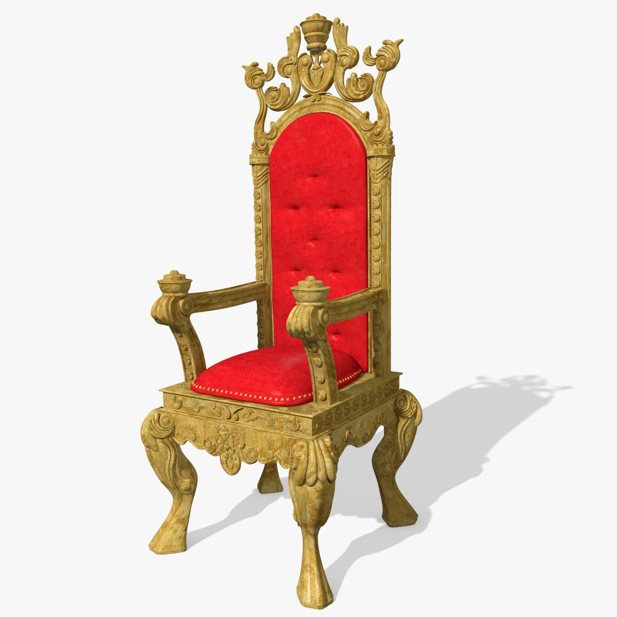 King chair with king - 3d King S Throne Chair