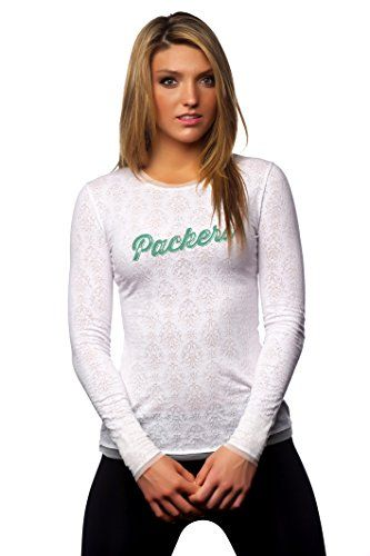 "NFL Green Bay Packers Women's ""Hail Mary"" Long-Sleeve Tee, White, Large All Sport Couture http://www.amazon.com/dp/B00MRQR31Y/ref=cm_sw_r_pi_dp_GrU8vb1EG3GSC"