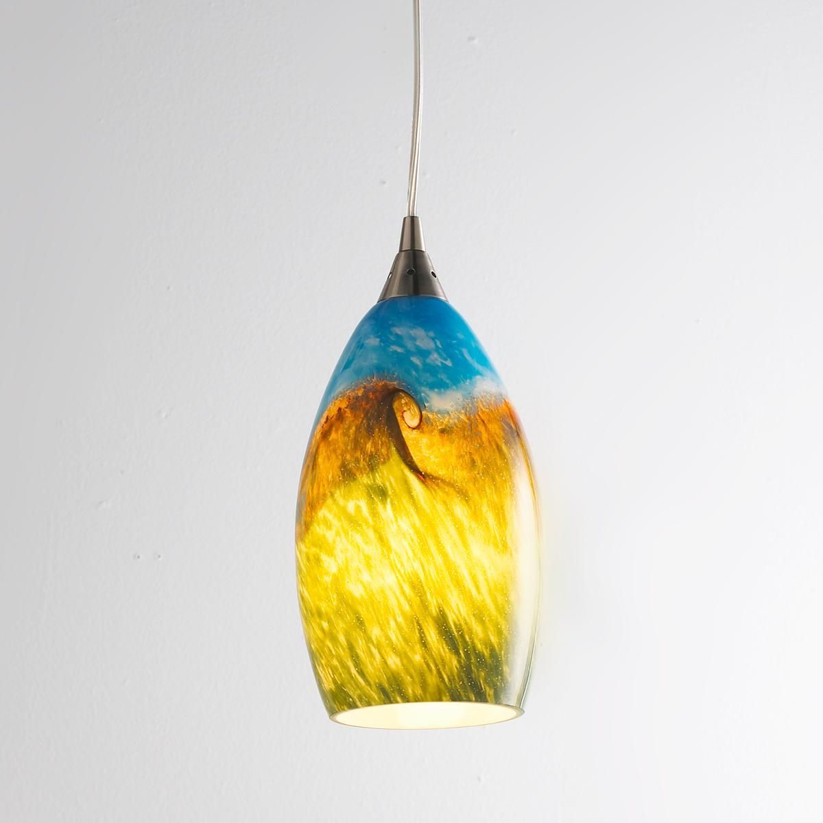 Seeded Glass Chandelier