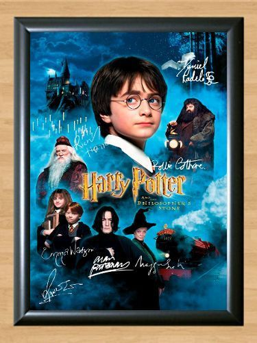 8 85aud Philosophers Stone Harry Potter Cast Signed Autographed A4 Poster Print Photo Ebay Home Garden Harry Potter Movies
