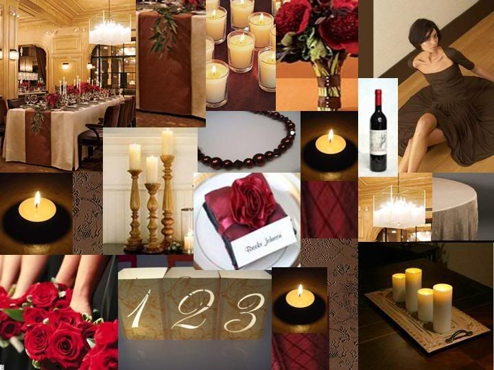 Brown And Gold Wedding Ideas: Chocolate Brown, Cranberry & Gold